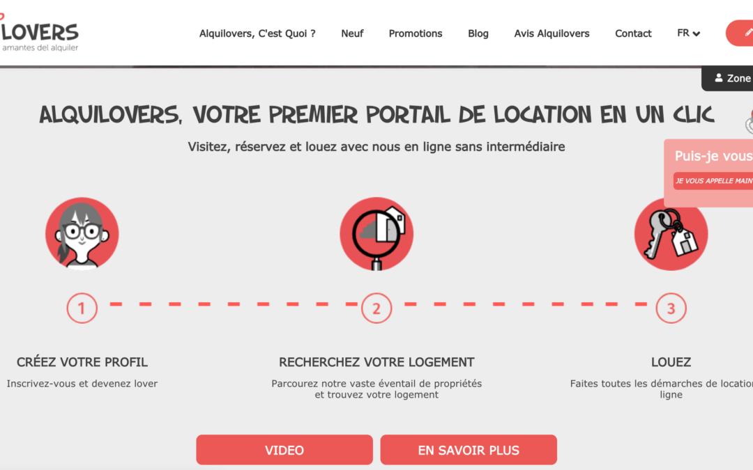 Alquilovers, premier portail immobilier espagnol pour louer un appartement en un clic